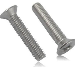 DIN965 cross recessed countersunk head Screws Inch Cross Metric Cross stainless steel
